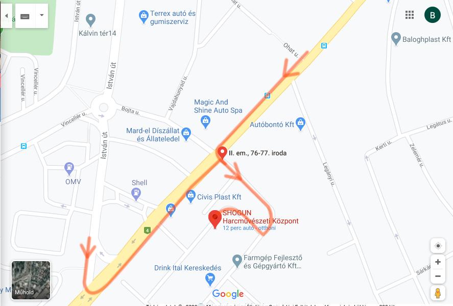 Shogun Harcművészeti központ térképen